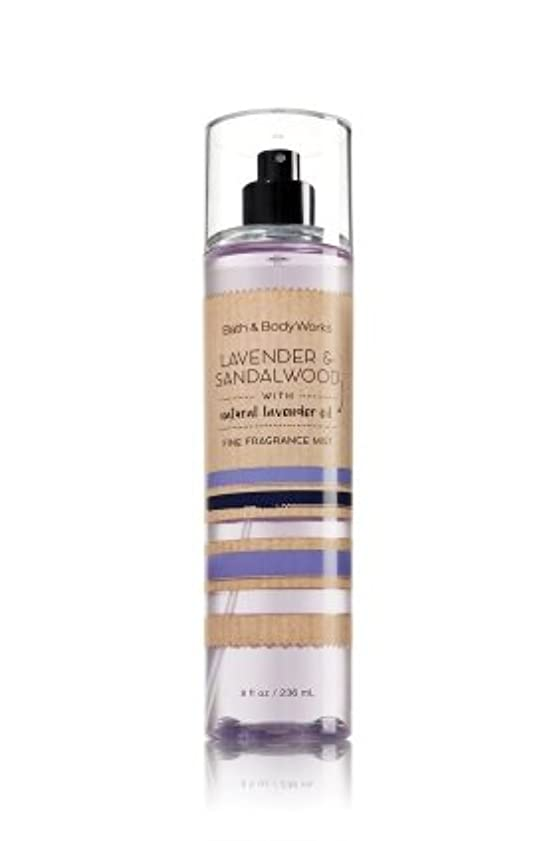 悲観的フローティング一致【Bath&Body Works/バス&ボディワークス】 ファインフレグランスミスト ラベンダー&サンダルウッド Fine Fragrance Mist Lavender & Sandalwood 8oz (236ml)...