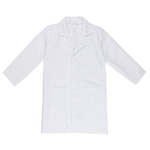 (5-6 Years) - iixpin Childen Boys Girls Doctor Lab Coats Long Sleeves Cosplay Costume Party Outfit