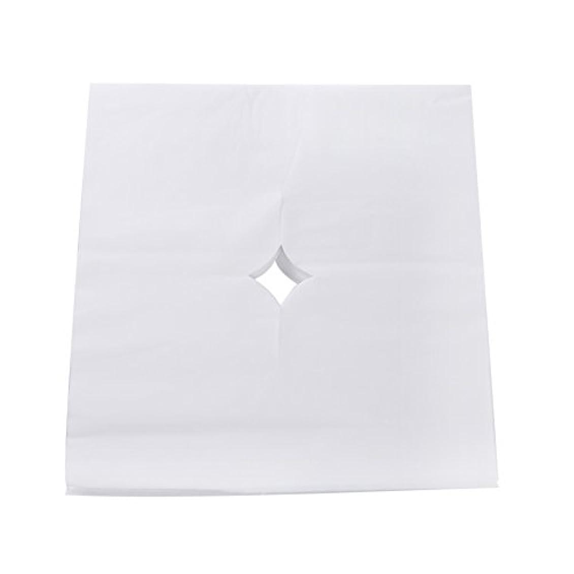 永遠の普及適応Decdeal ピローシート フェイスパッド 100pcs /バッグ ベッドテーブルフェイスホールカバー スパマッサージ 美容院 使い捨て呼吸シートホワイト