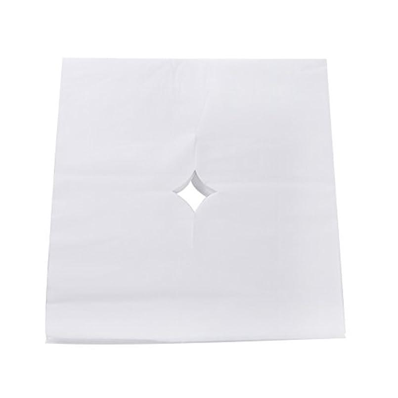 暫定の可能確立Decdeal ピローシート フェイスパッド 100pcs /バッグ ベッドテーブルフェイスホールカバー スパマッサージ 美容院 使い捨て呼吸シートホワイト