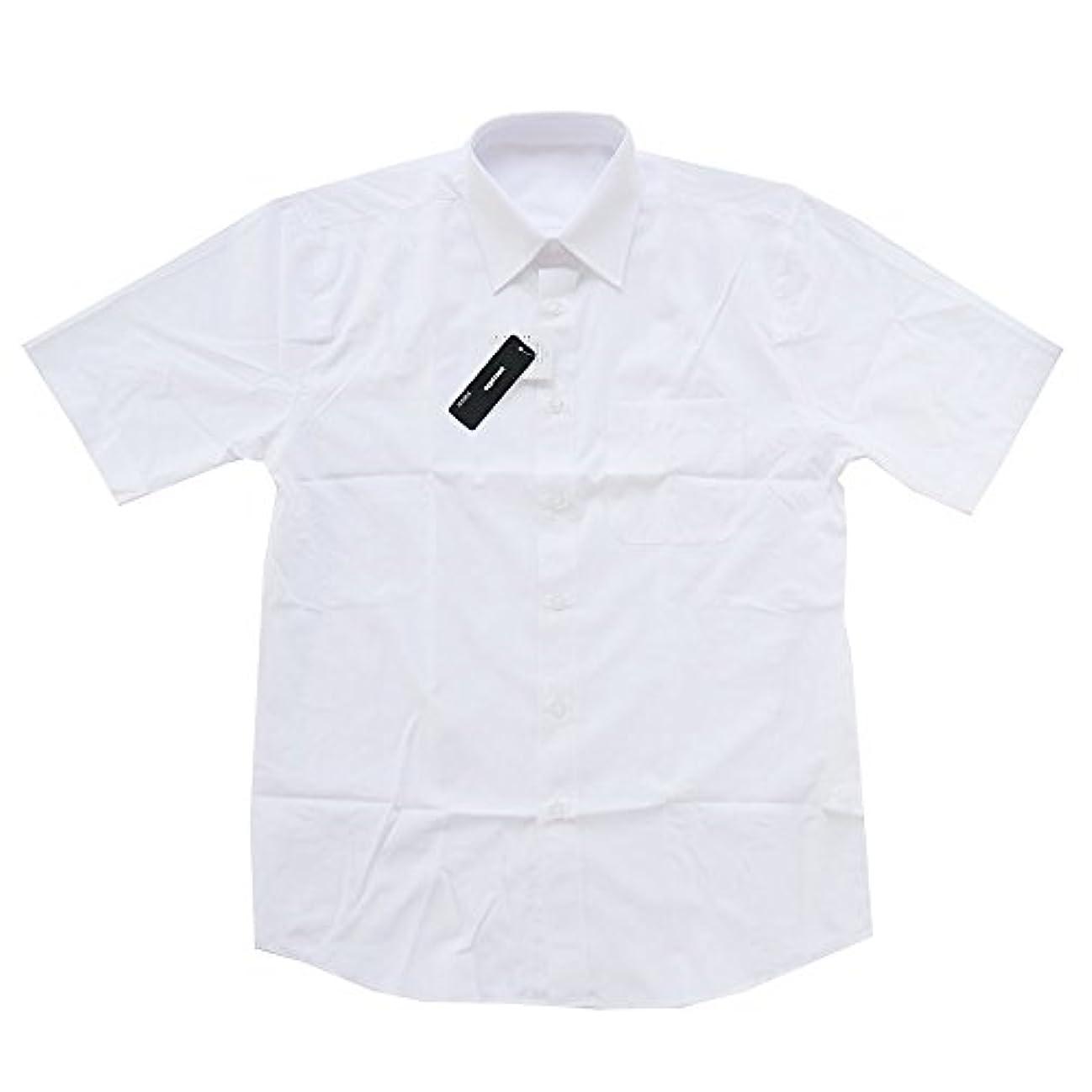 後方平方整理するワイシャツ メンズ 半袖 カッター シャツ ドレス 学生服 Yシャツ ビジネス 無地 BD7000