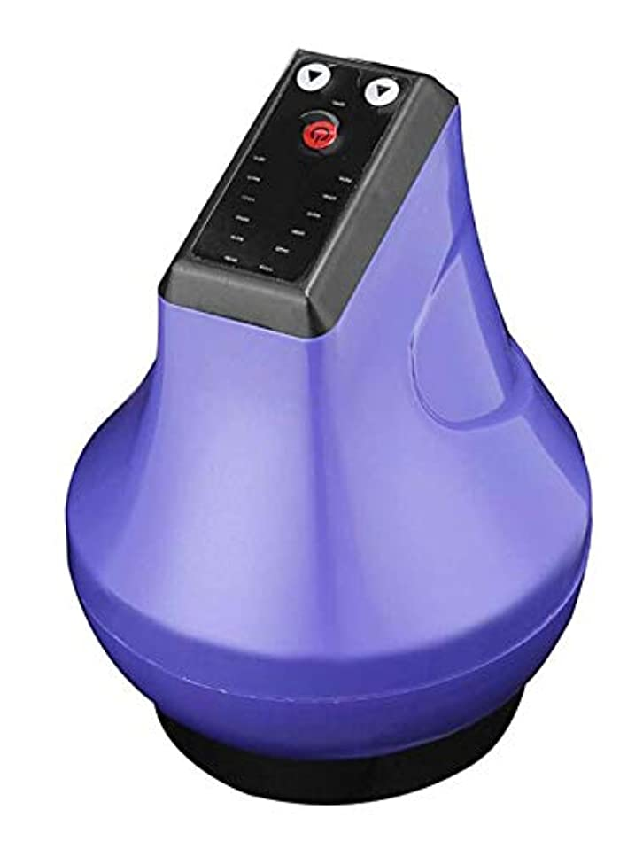 反対した発見ピンク電気Guashaマッサージスクレイピング吸引Masajeadorカッピングは、ボディのためのツボ解毒マッサージ6歯車マッサージツールを刺激します,紫色