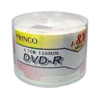 600Princo 8X DVD - R 4.7GBホワイトTop