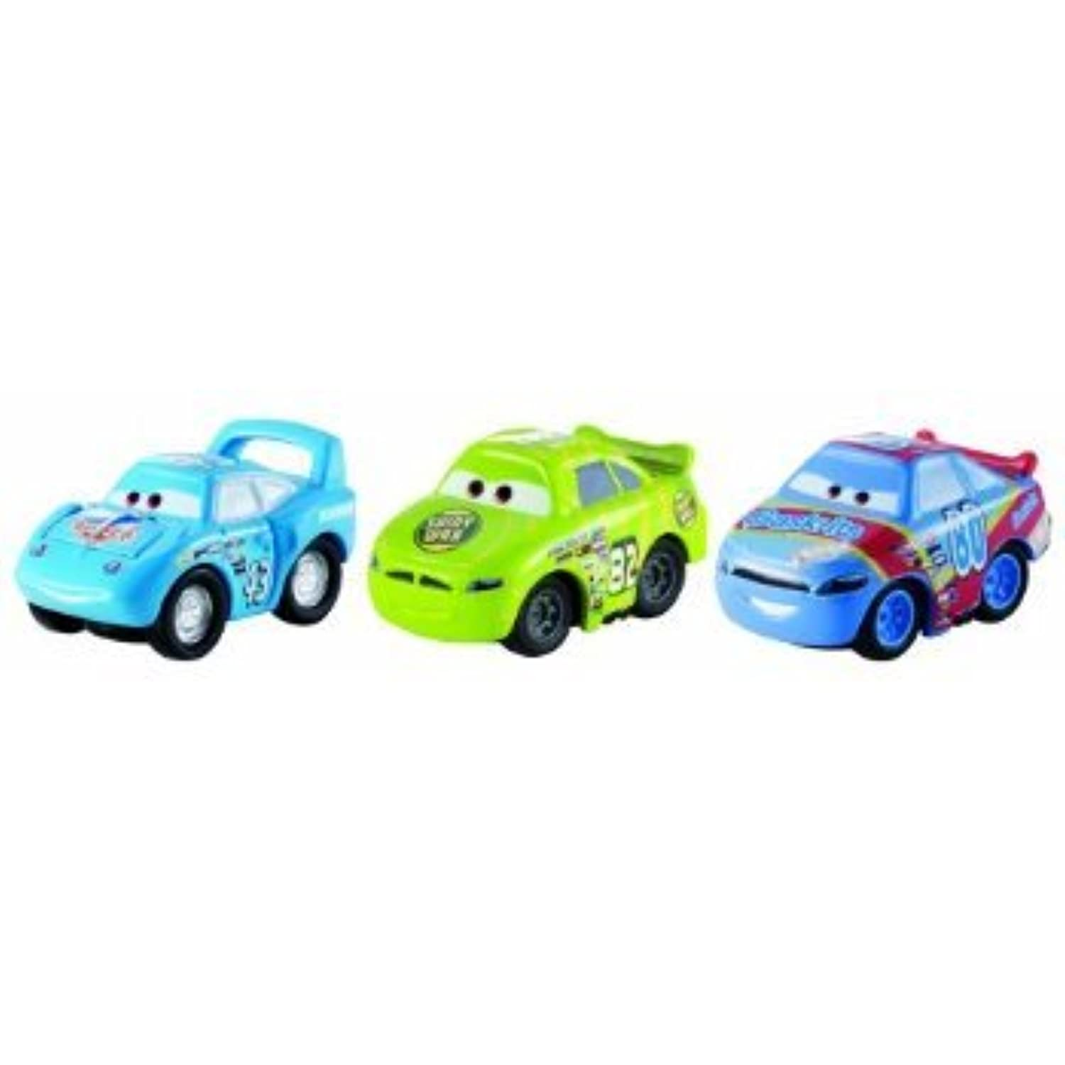 Disney/Pixar Cars, Micro Drifters Vehicles, Shiny Wax No. 82, Gask-Its No. 80, and The King, 3-Pack. おもちゃ [並行輸入品]