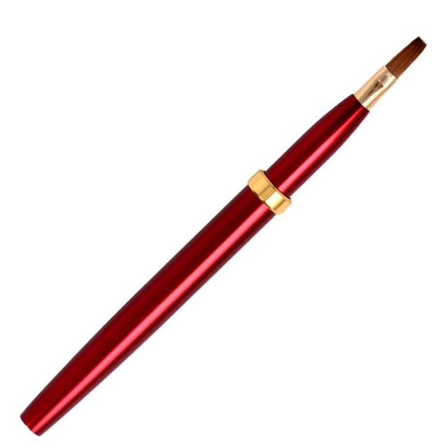 位置する反逆派生する広島熊野筆 オートリップブラシ 毛質 イタチ