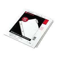 オーバーサイズ補強Insertableインデックス、クリア8-tab、9–1/ 4x 11、ホワイト 2-Pack