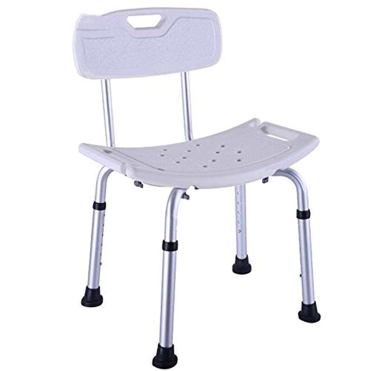 ミキサー晩ごはん強調する高齢者のための調節可能な高さのシャワーチェア