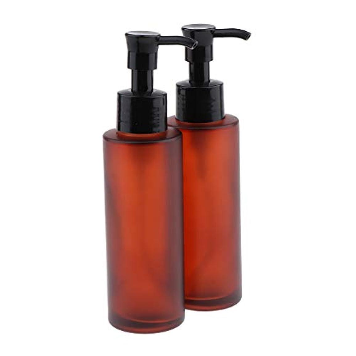 観察改修ゴミ2本 スプレーポンプボトル 化粧品 ローション ガラスボトル 小分け容器 2サイズ選べ - 100ml