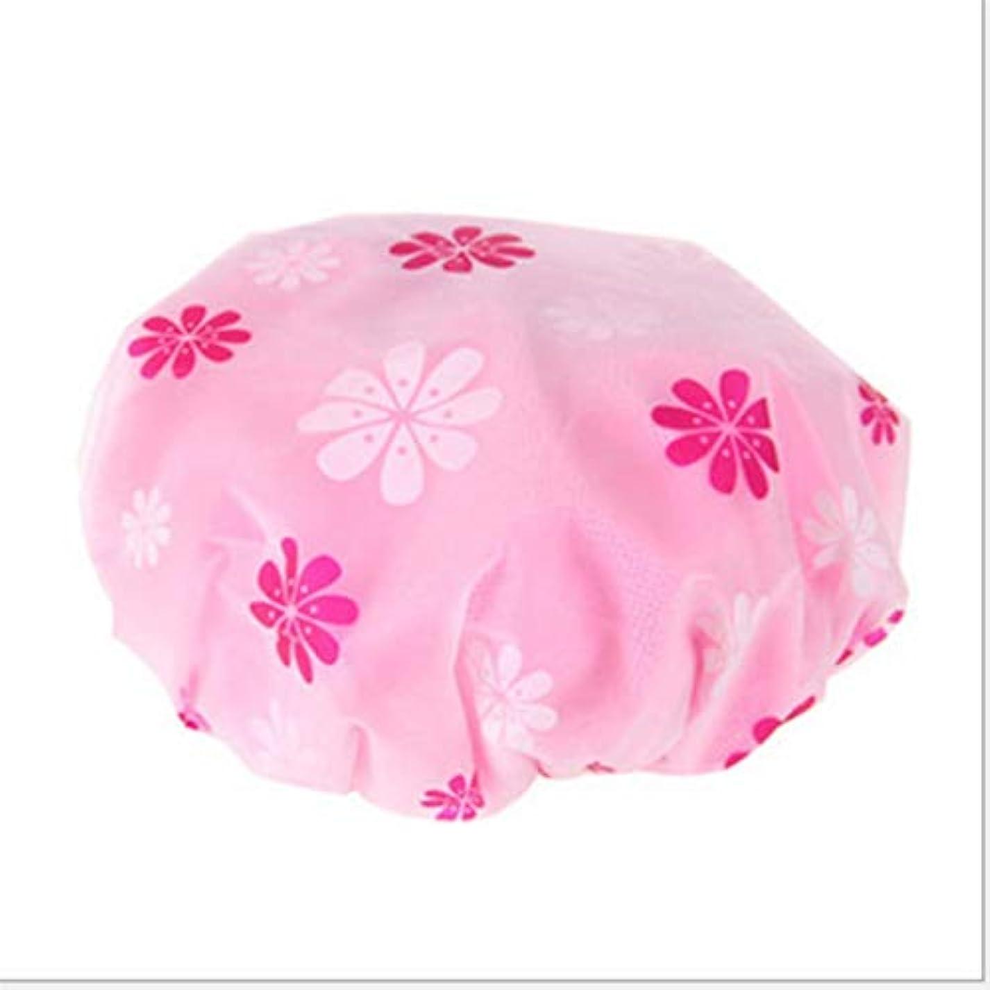 擬人拮抗報酬のMARUIKAO シャワーキャップ 入浴キャップ ヘアキャップ ヘアーターバン 帽子 お風呂 シャワー用に 5色