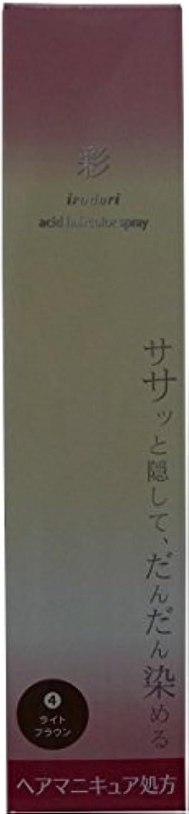 配置カーテン瞑想彩 酸性ヘアカラースプレー 4 ライトブラウン<染毛料> 120g