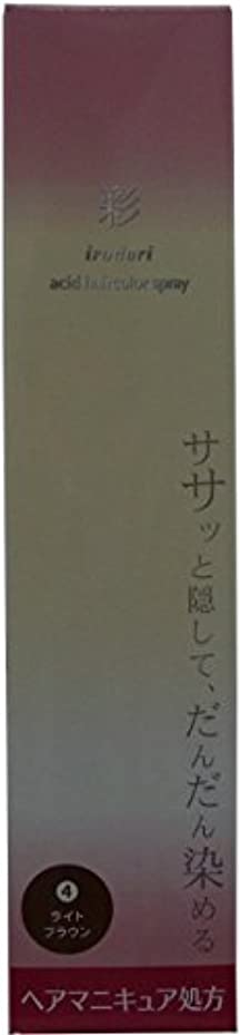 手書き支配する機械彩 酸性ヘアカラースプレー 4 ライトブラウン<染毛料> 120g