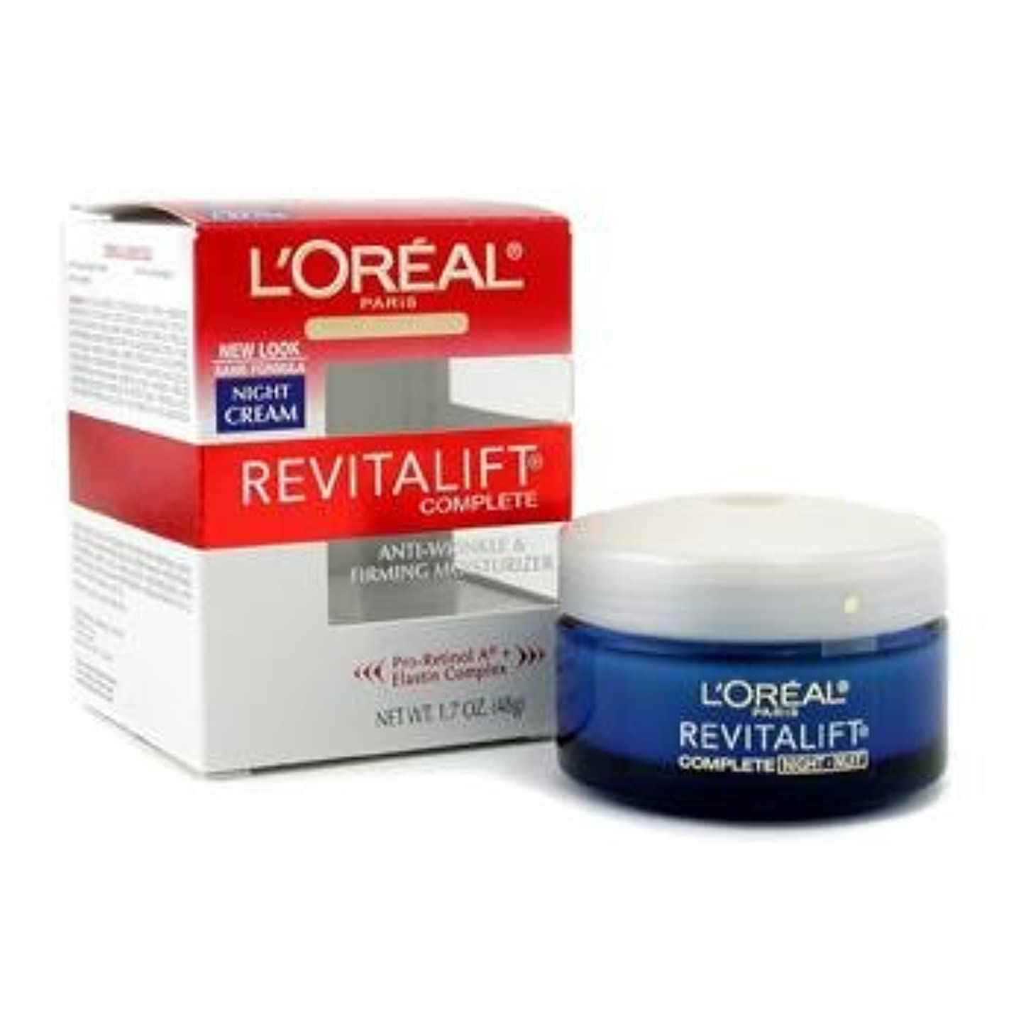 ひどくドアシェード[LOreal] Skin Expertise RevitaLift Complete Night Cream 48g/1.7oz