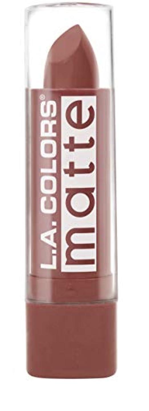 ぐるぐる朝食を食べる明るくするL.A. COLORS Matte Lip Color - Caramel Cream (並行輸入品)