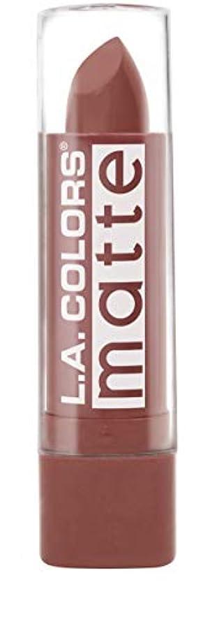 統計的まろやかな日付L.A. COLORS Matte Lip Color - Caramel Cream (並行輸入品)
