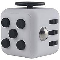 Fidget Cube - ストレス解消キューブ 不安 緊張 リリーフ ルービックキューブ おもちゃ6in1 フィジェットキューブ手持ちポケットゲーム 男女老若用ポケットゲーム 六面体 ギフトグッズ (ブラック)