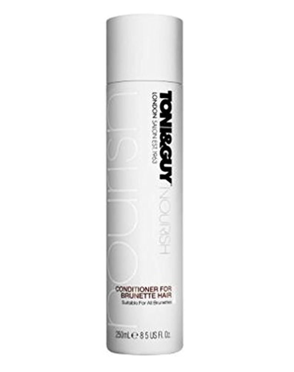研磨動機付けるガイダンストニ&男はブルネットの髪の250ミリリットルのためにコンディショナーを養います (Toni & Guy) (x2) - Toni&Guy Nourish Conditioner for Brunette Hair 250ml...