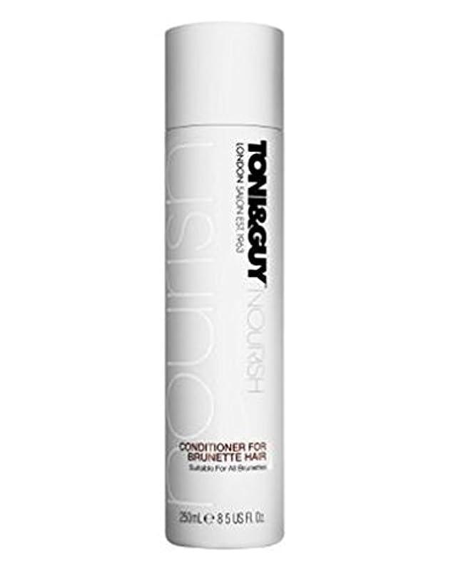 ミサイル本体原子炉トニ&男はブルネットの髪の250ミリリットルのためにコンディショナーを養います (Toni & Guy) (x2) - Toni&Guy Nourish Conditioner for Brunette Hair 250ml...