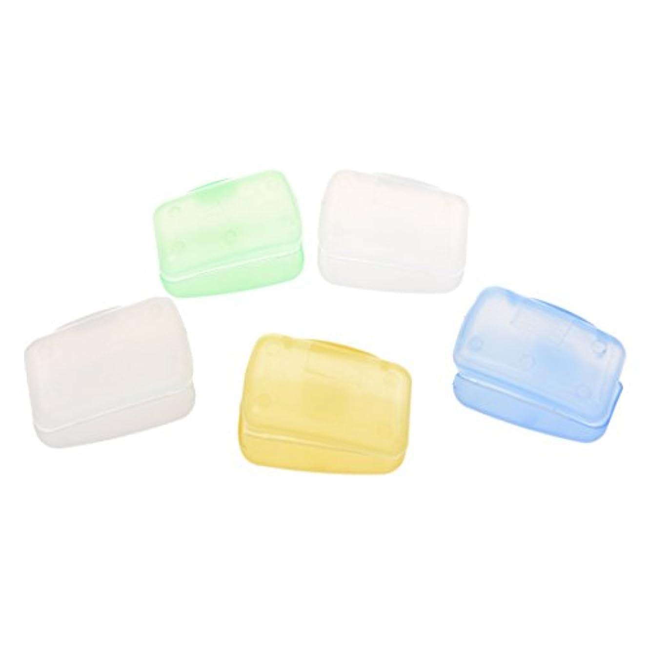 ビリーヤギ識字食品SODIAL(R)5PCS旅行のポータブル歯ブラシヘッドの保護ケース