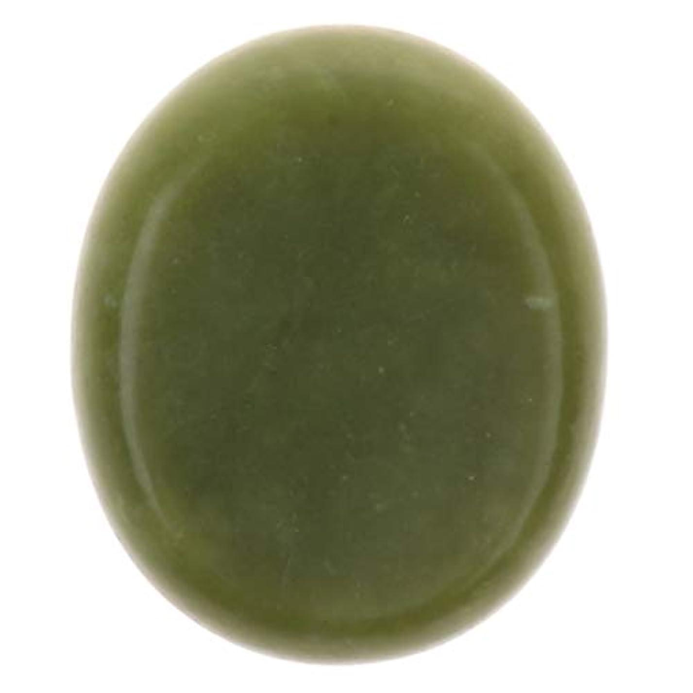 量個人的な卒業天然石ホットストーン マッサージ用火山岩 マッサージストーン ボディマッサージ 実用的 全2サイズ - グリーン+グリーン, 5×6cm