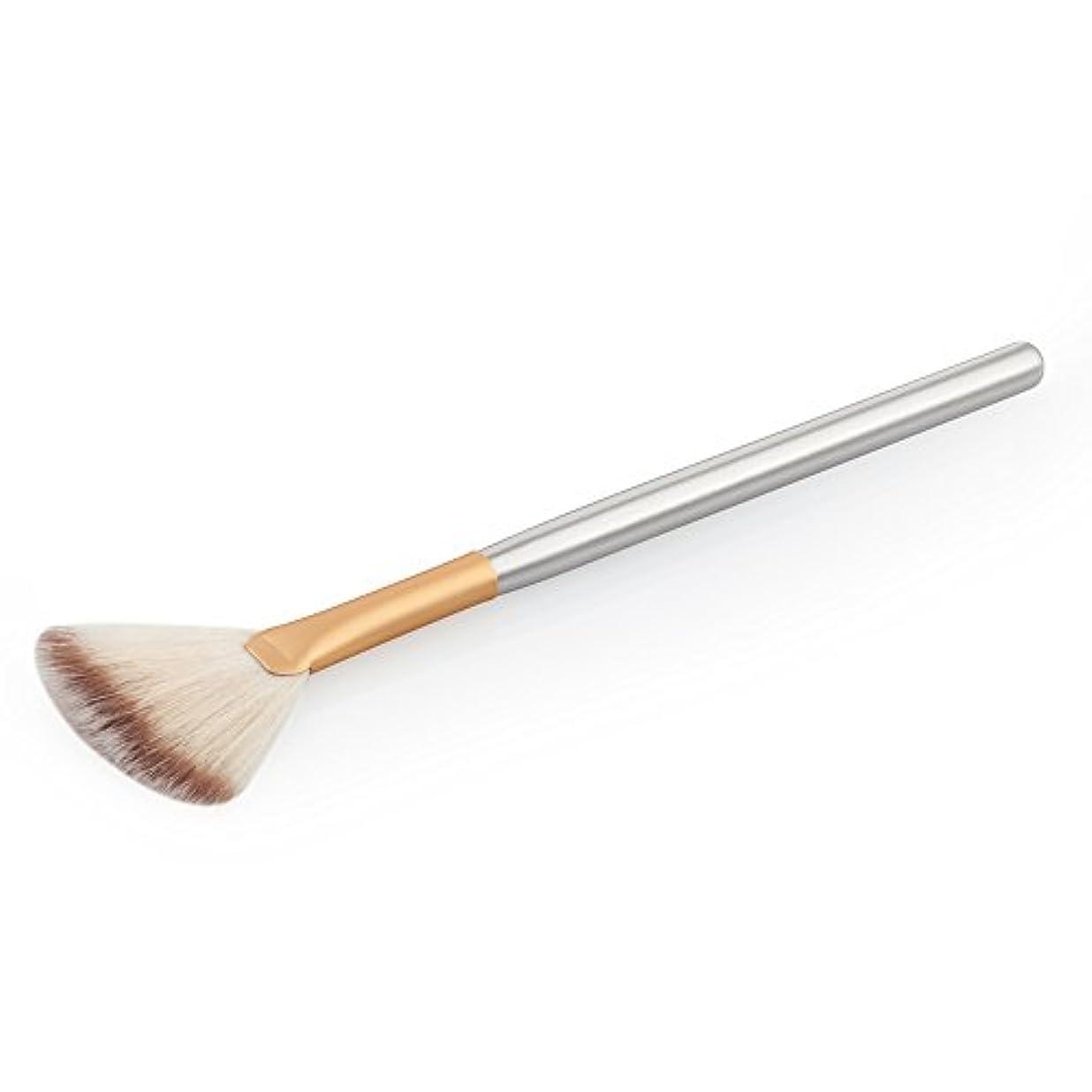 苦しみ木製悲しむコンシーラーブラッシ フェイスチークパウダーブラシ メイクブラシ 化粧品のツール メイク道具 全2色 - ゴールド