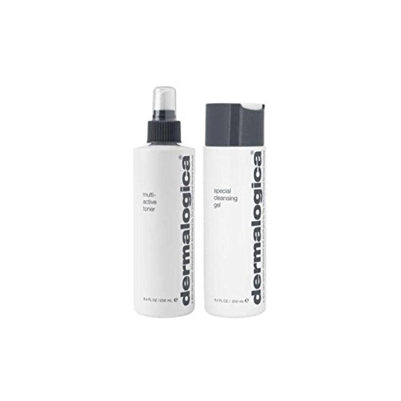 パラメータに同意するまぶしさダーマロジカクレンジング&トーンデュオ - ノーマル/ドライスキン(2製品) x4 - Dermalogica Cleanse & Tone Duo - Normal/Dry Skin (2 Products) (Pack...