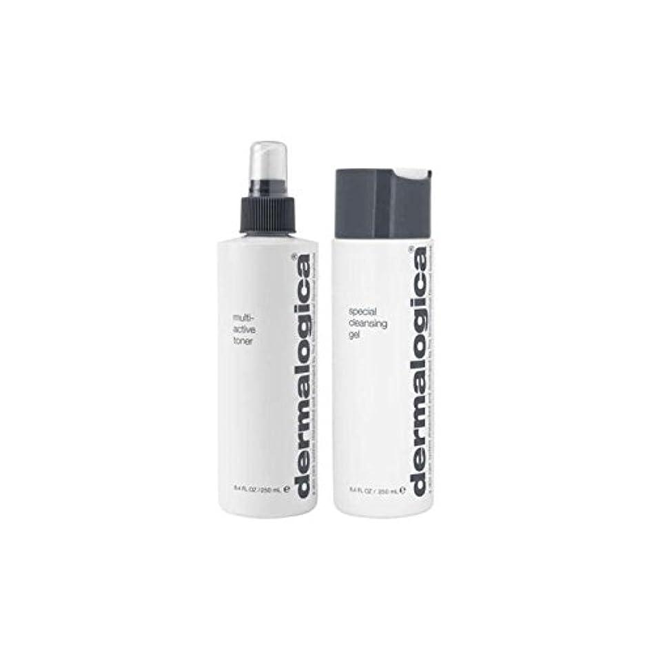 ハード皮努力ダーマロジカクレンジング&トーンデュオ - ノーマル/ドライスキン(2製品) x4 - Dermalogica Cleanse & Tone Duo - Normal/Dry Skin (2 Products) (Pack...