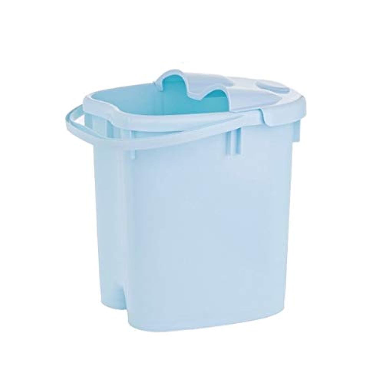 スパマッサージバケツ - ポータブルプラスチックフットバスタブ - シンプルな断熱厚手流域 419 (色 : 青, サイズ さいず : 39×29.7cm)