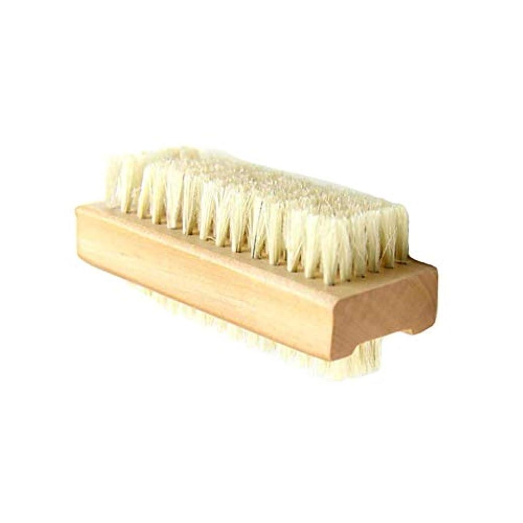 移行する組み立てる汚いネイルブラシ ウッド 豚毛 木柄 両面豚毛ブラシ ハンドブラシ 手指 爪両面ブラシ ジェイドブラシ クルミブラシ クリーニングブラシ