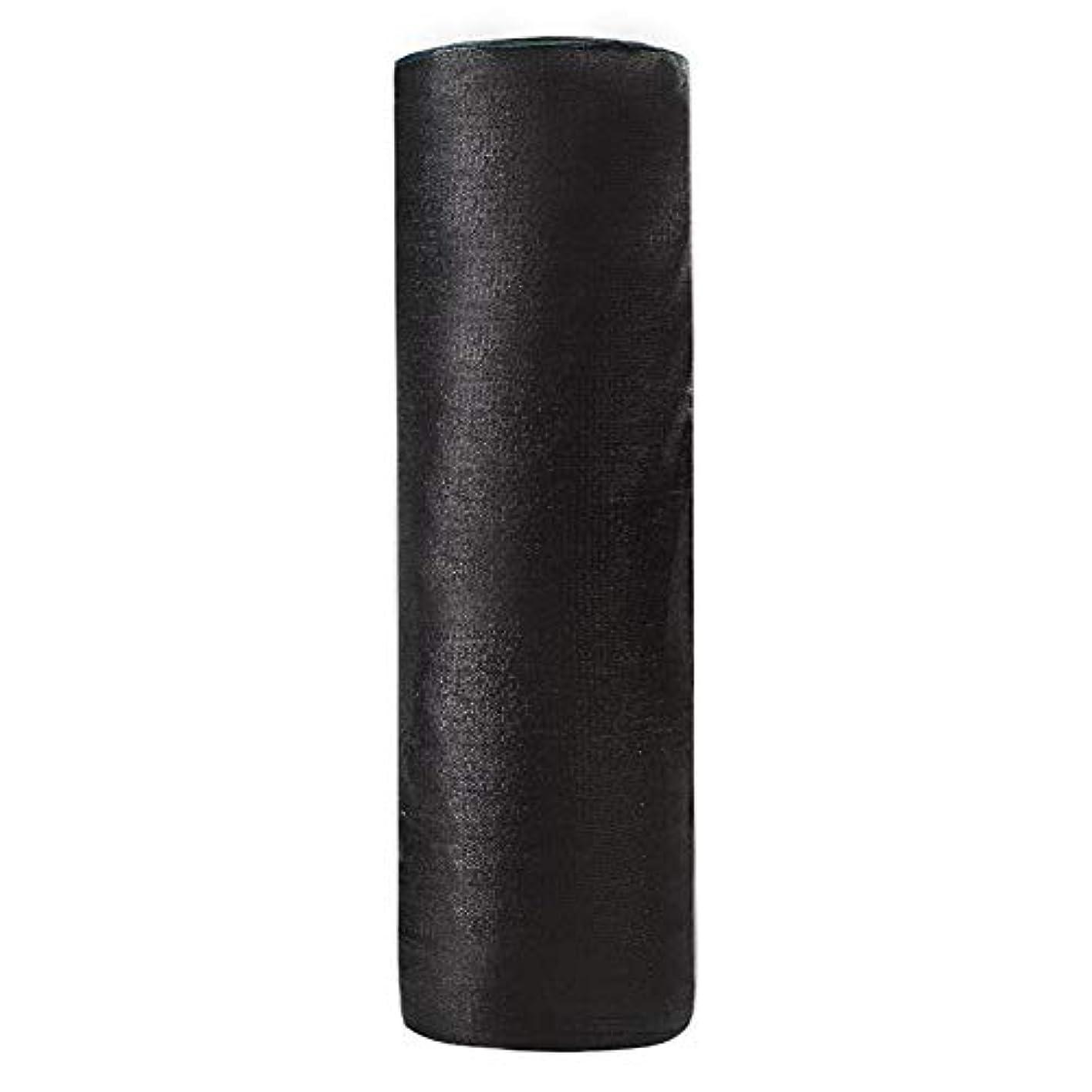 クリスマス謎めいたまどろみのあるZX タープ シェーディングネット ブラック日焼け止めシェード布ロール、 80%UV耐性メッシュネットカバーテーピングエッジ 花に最適植物のパティオ芝生、55g /㎡ テント アウトドア (Color : Black, Size : 5X50M)