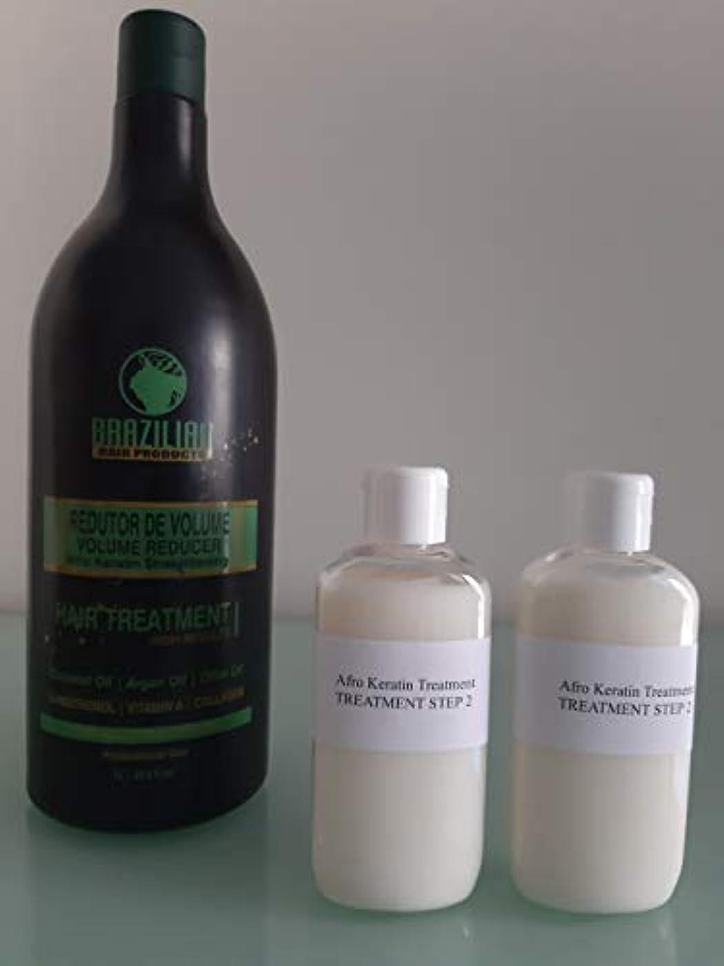 熟練したパネル履歴書アフロブラジルシステムケラチン毛矯正治療マルチサイズ (2 X 100ML ただケラチン)