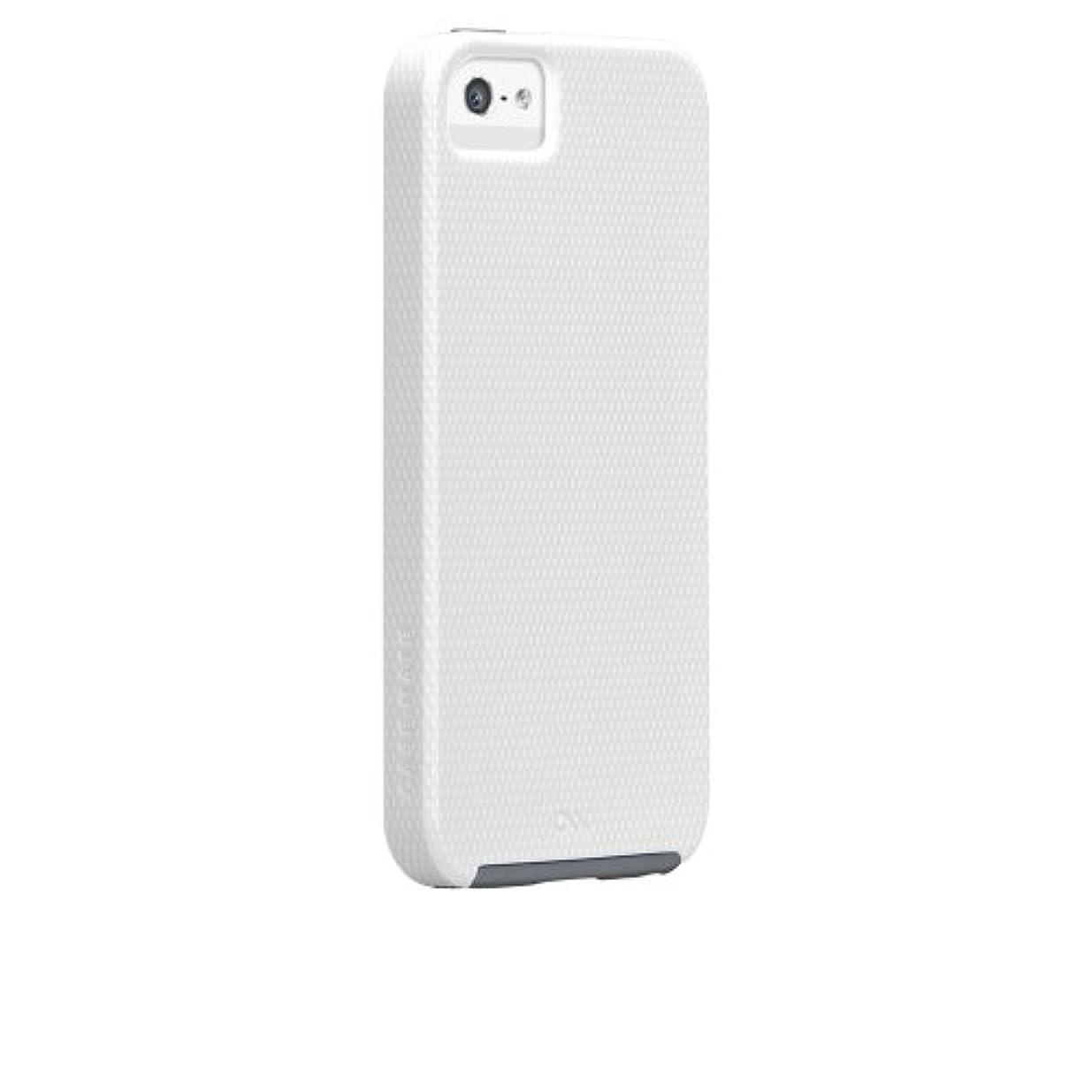 百年万歳レベルCase-Mate 日本正規品 iPhoneSE / 5s / 5 Hybrid Tough Case, White / Titanium Grey ハイブリッド タフ ケース CM023417