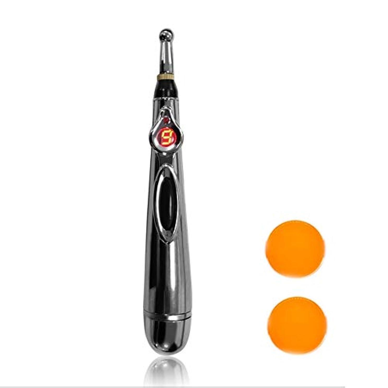 一般爆発南極W-912電気鍼治療ポイントマッサージペン痛み緩和療法電子子午線エネルギーペンマッサージボディヘッドネック脚 - シルバー