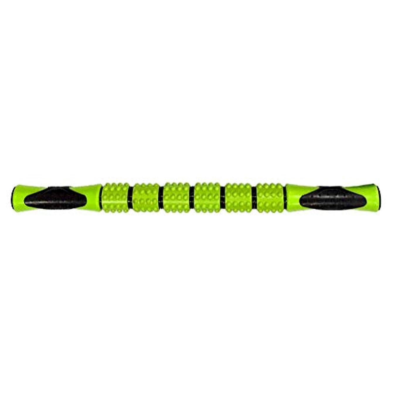 戻すゴシップマイクロフォンマッサージスティック 筋弛緩ローラー 腰痛 リガーポイント 筋膜 マッサージャー ト ヨガ フィットネススポーツフェイシアスティック持ち運び便利 痛を改善 筋筋膜リリース(緑色)