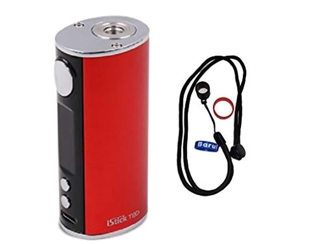 マングルもし増強する正規品 Eleaf iStick T80 Mod 80W ハイエンド電子タバコ あいこす本体セット Vape 電子タバコ (赤)