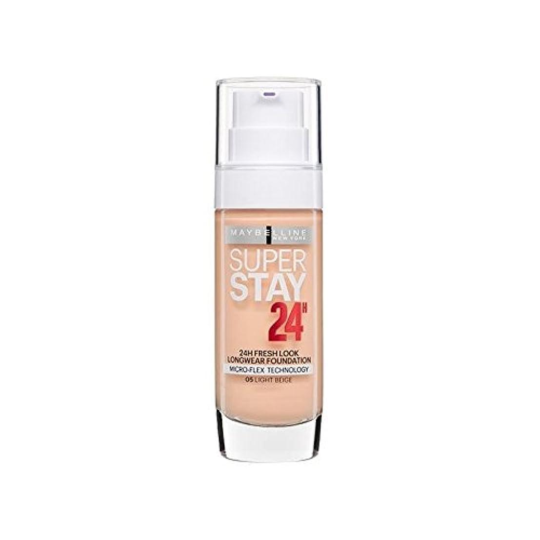 年次ウイルスフォーラムMaybelline SuperStay 24h Liquid Foundation Light Beige 30ml (Pack of 6) - メイベリンの24時間リキッドファンデーションライトベージュ30ミリリットル...