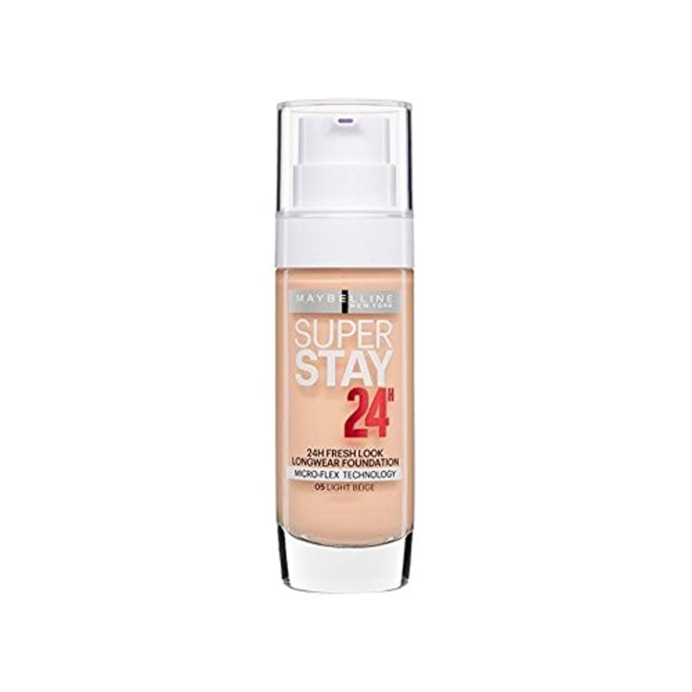 衝突リスク争うMaybelline SuperStay 24h Liquid Foundation Light Beige 30ml - メイベリンの24時間リキッドファンデーションライトベージュ30ミリリットル [並行輸入品]
