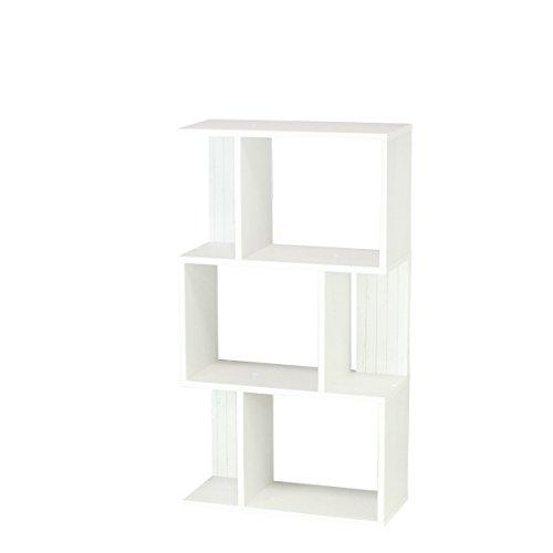 【Amazon.co.jp限定】白井産業【SHIRAI】 飾り棚 オープンラック キアエッセ 幅約60cm 高さ約108cm ホワイト 白 KI2-1160WH