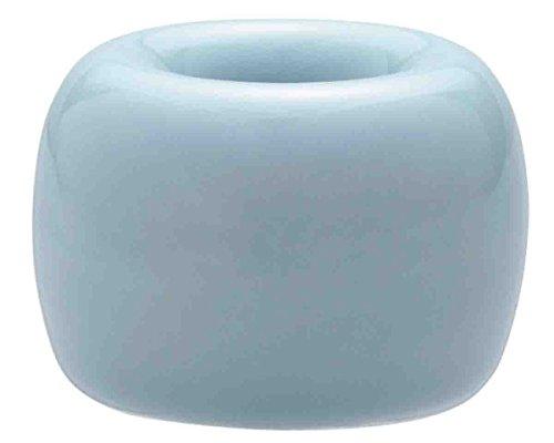 無印良品 磁器歯ブラシスタンド・1本用 ブルー・直径4×高さ3cm×3 日本...