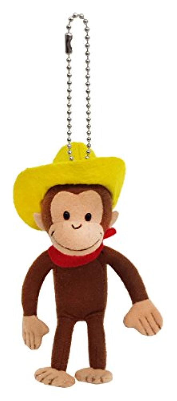 キュリアスジョージ クラッシックジョージ ボールチェーン付きマスコット 帽子 全長14cm