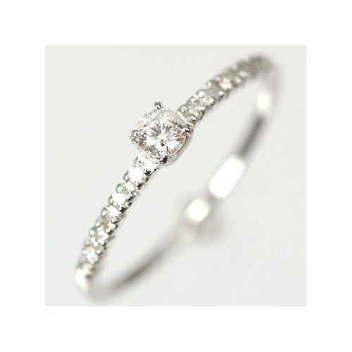 [キュートジュエリー]Cute jewerly ダイヤモンド 指輪 天然ダイヤ0.15ct×ホワイトゴールド エレガンスリング 10
