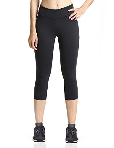 [해외]바리후 (Baleaf) 여성 요가 바지 스트레치 바지 일곱 분 길이 유연한 원단 무지 블랙 사이즈 L/Barrie (Baleaf) Ladies Yoga Pants Stretch Pants Three Quarter Length Flexible Fabric Plain Black Size L