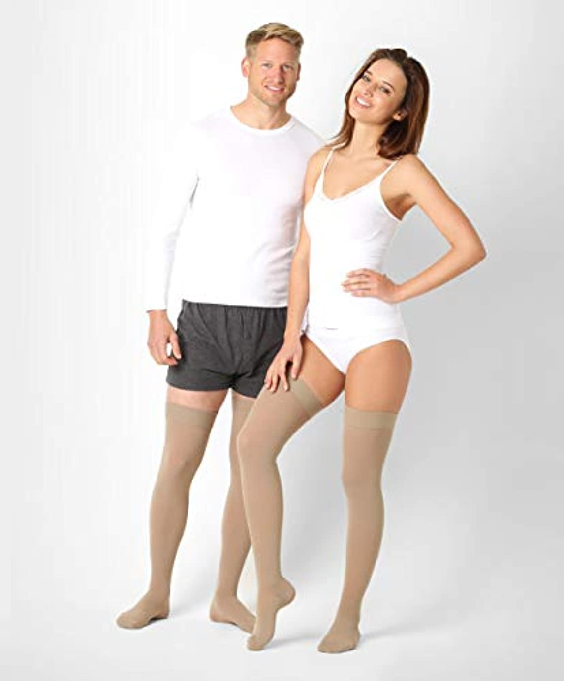 ポーズわな訪問BeFit24 医療用着圧ストッキング クラス 1 (18-21 mmHg) 男性?女性用 ーあらゆるラ イフスタイルのニーズに対応ー ヨーロッパ製 X-Large Beige
