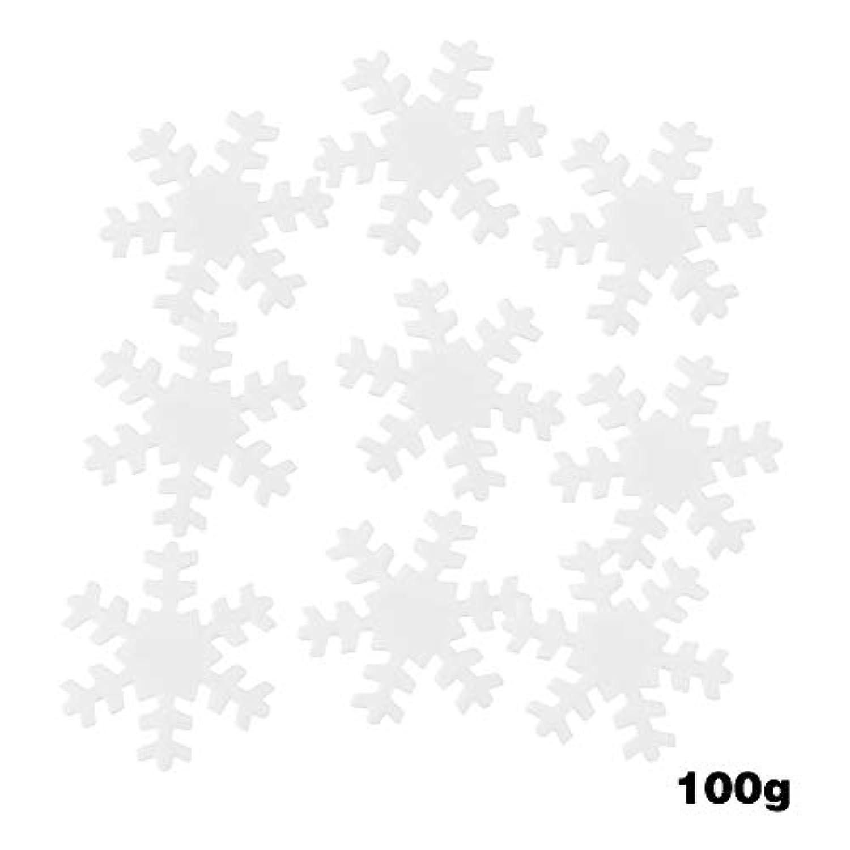 紙吹雪の装飾クリスマスシンボリック 白のスノーフレーク 結婚式 パーティーテーブルの装飾紙吹雪18 / 23mm(1)