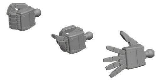ビルダーズパーツHD 1/144 MSハンド03 (連邦系・Sサイズ)
