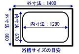 お風呂のふた   ノーリツ 風呂ふた 巻ふた 長さ1,456mm×幅765mm (取っ手部分含む) 品番:FC1480J-GY