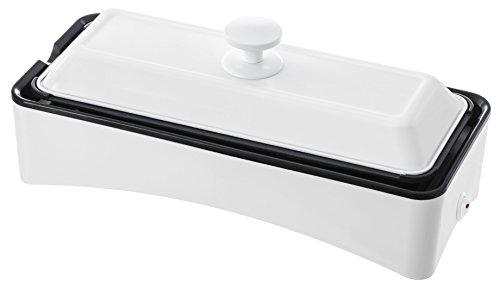 RoomClip商品情報 - 山善 スリムグリルプレート 2枚組み ホットプレート たこ焼き器 YOF-W120(W