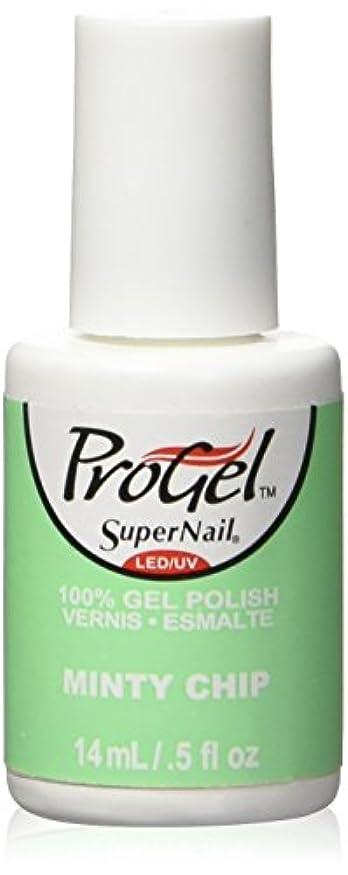 ブロック宣言好奇心SuperNail ProGel Gel Polish - Minty Chip - 0.5oz / 14ml
