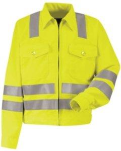 Red Kap hi-visibility Ikeジャケット–クラス3レベル2、メンズ、jy32ab、rg50
