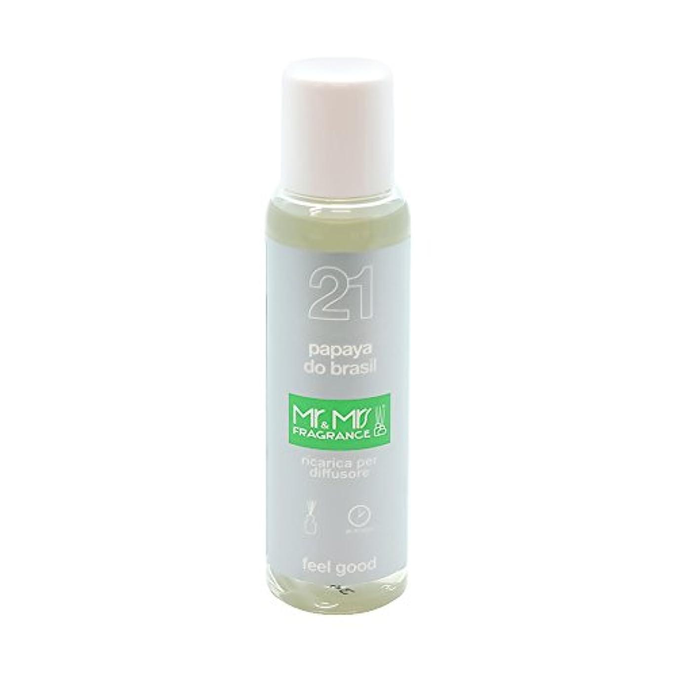 肝ペルメル学習者Mr&Mrs(ミスターアンドミセス)easy fragrance 21 パパイヤ リフィル 100ml
