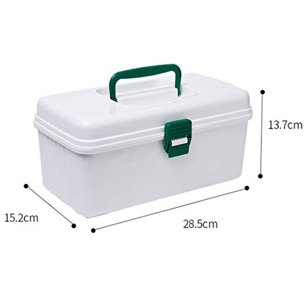 異邦人まあイーウェル家庭用薬箱ポータブル小型薬箱プラスチック家庭用小型薬箱薬収納ボックス薬箱 LIUXIN (Color : White, Size : 28.5cm×13.7cm×15.2cm)